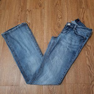 Garage Slim Flare Low Rise Stretchy Jeans Size 5